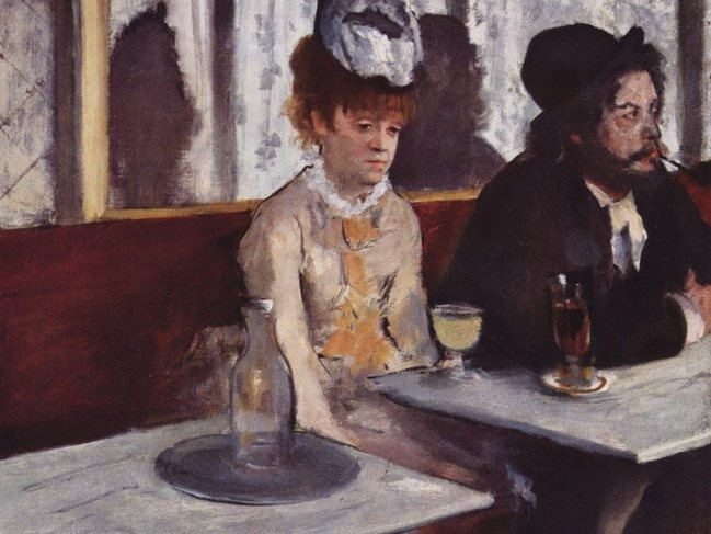 Edgar Degas - Glass of Absinthe